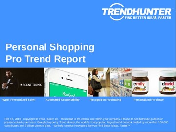 Personal Shopping Trend Report and Personal Shopping Market Research