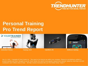 Personal Training Trend Report and Personal Training Market Research