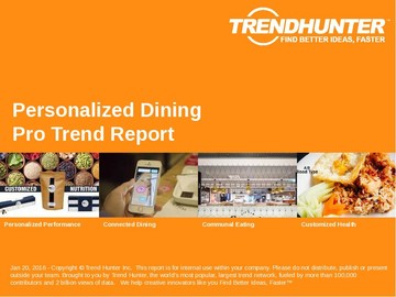 Personalized Dining Trend Report and Personalized Dining Market Research