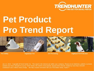 Pet Product Trend Report and Pet Product Market Research