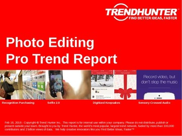 Photo Editing Trend Report and Photo Editing Market Research