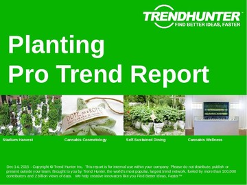 Planting Trend Report and Planting Market Research