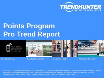 Points Program Trend Report and Points Program Market Research