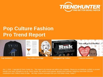 Pop Culture Fashion Trend Report and Pop Culture Fashion Market Research