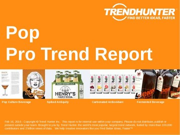Pop Trend Report and Pop Market Research