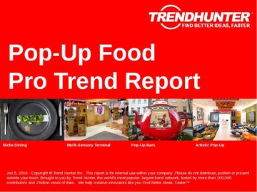 Pop-Up Food Trend Report and Pop-Up Food Market Research