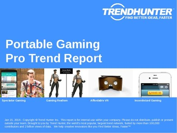 Portable Gaming Trend Report and Portable Gaming Market Research