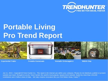 Portable Living Trend Report and Portable Living Market Research