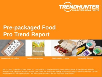 Pre-packaged Food Trend Report and Pre-packaged Food Market Research