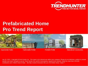 Prefabricated Home Trend Report and Prefabricated Home Market Research