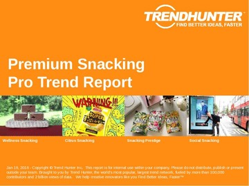 Premium Snacking Trend Report and Premium Snacking Market Research