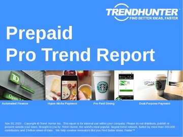 Prepaid Trend Report and Prepaid Market Research