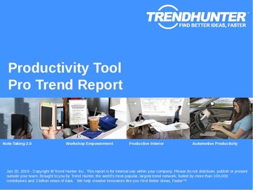 Productivity Tool Trend Report and Productivity Tool Market Research