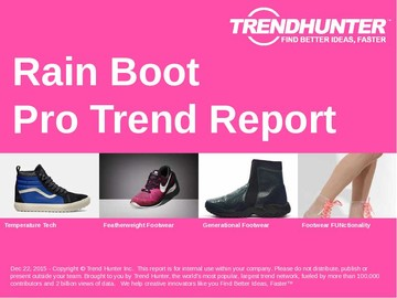 Rain Boot Trend Report and Rain Boot Market Research