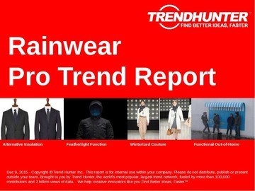Rainwear Trend Report and Rainwear Market Research