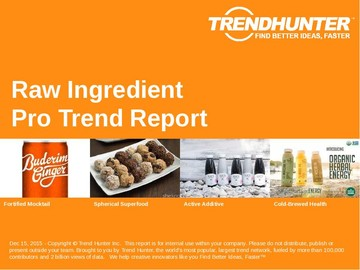 Raw Ingredient Trend Report and Raw Ingredient Market Research
