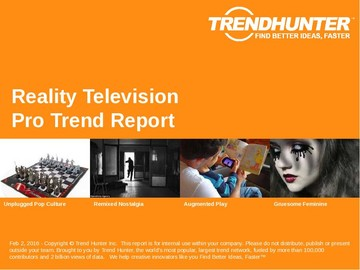 Reality Television Trend Report and Reality Television Market Research