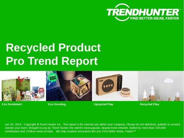 Recycled Product Trend Report and Recycled Product Market Research