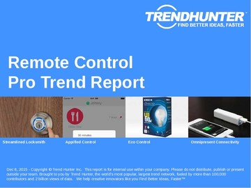 Remote Control Trend Report and Remote Control Market Research