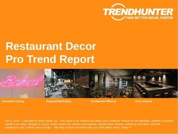 Restaurant Decor Trend Report and Restaurant Decor Market Research