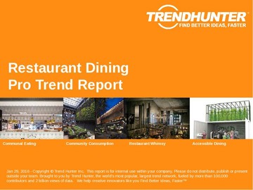 Restaurant Dining Trend Report and Restaurant Dining Market Research