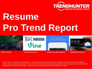Resume Trend Report and Resume Market Research