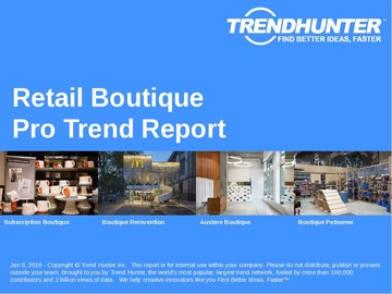 Retail Boutique Trend Report and Retail Boutique Market Research