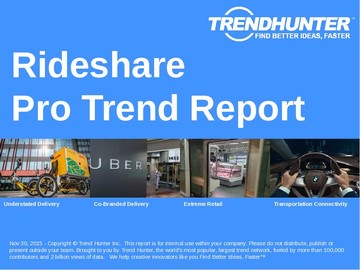 Rideshare Trend Report and Rideshare Market Research