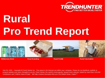 Rural Trend Report and Rural Market Research