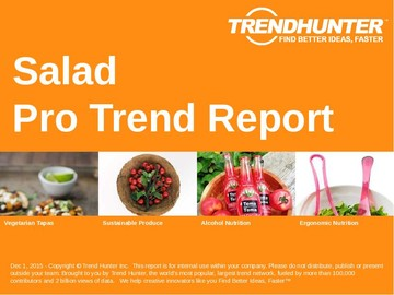Salad Trend Report and Salad Market Research