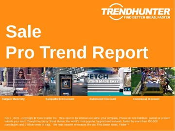 Sale Trend Report and Sale Market Research