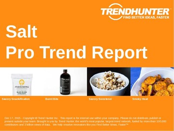 Salt Trend Report and Salt Market Research
