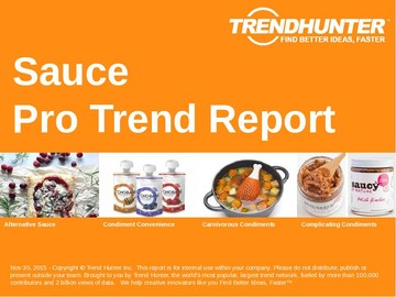 Sauce Trend Report and Sauce Market Research