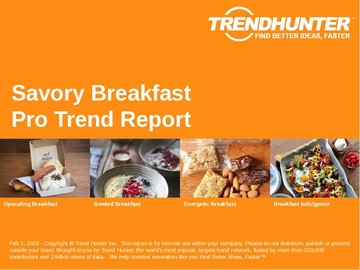 Savory Breakfast Trend Report and Savory Breakfast Market Research
