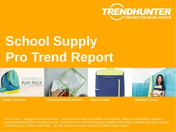 School Supply Trend Report and School Supply Market Research