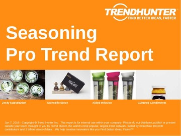 Seasoning Trend Report and Seasoning Market Research