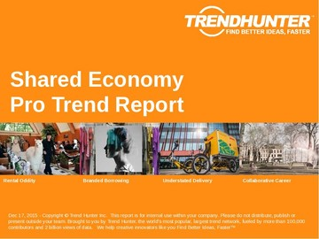 Shared Economy Trend Report and Shared Economy Market Research
