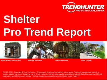 Shelter Trend Report and Shelter Market Research