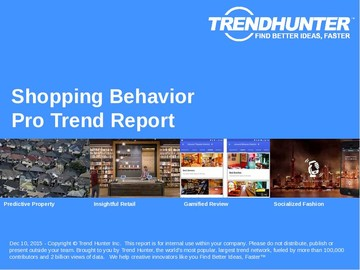 Shopping Behavior Trend Report and Shopping Behavior Market Research