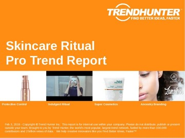 Skincare Ritual Trend Report and Skincare Ritual Market Research