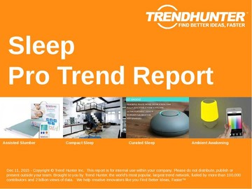 Sleep Trend Report and Sleep Market Research