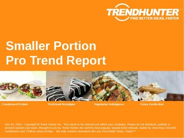 Smaller Portion Trend Report and Smaller Portion Market Research