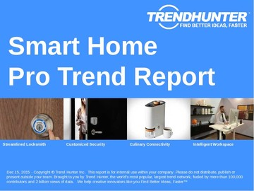Smart Home Trend Report and Smart Home Market Research