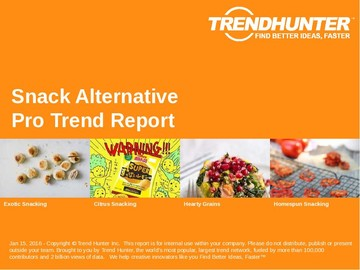 Snack Alternative Trend Report and Snack Alternative Market Research
