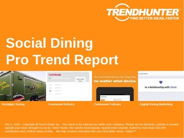 Social Dining Trend Report and Social Dining Market Research