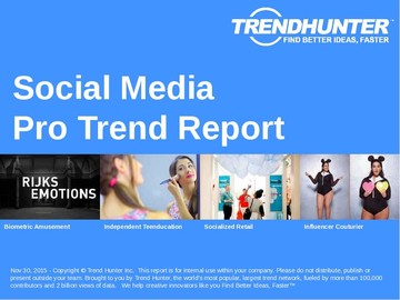 Social Media Trend Report and Social Media Market Research