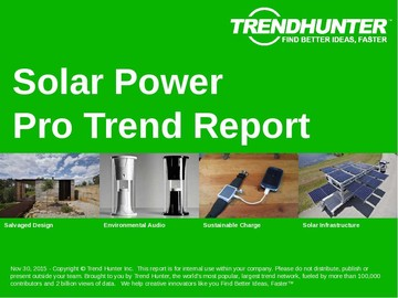 Solar Power Trend Report and Solar Power Market Research