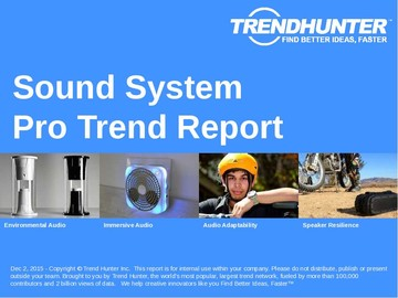 Sound System Trend Report and Sound System Market Research