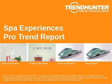 Spa Experiences Trend Report and Spa Experiences Market Research