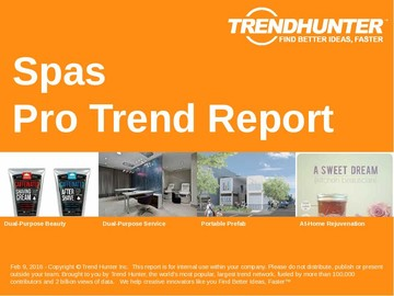 Spas Trend Report and Spas Market Research